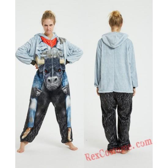 Bull Kigurumi Onesie Pajamas Cosplay Costumes for Adult