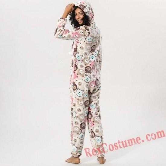 Bear Onesies Pajamas Hoodie Home Wear