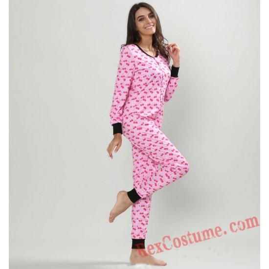 Print Onesies Pajamas Hoodie Home Wear