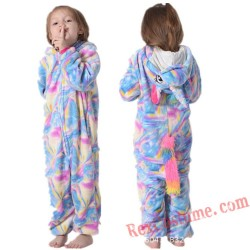 Unicorn Kids Kigurumi Onesie Pajamas Costumes
