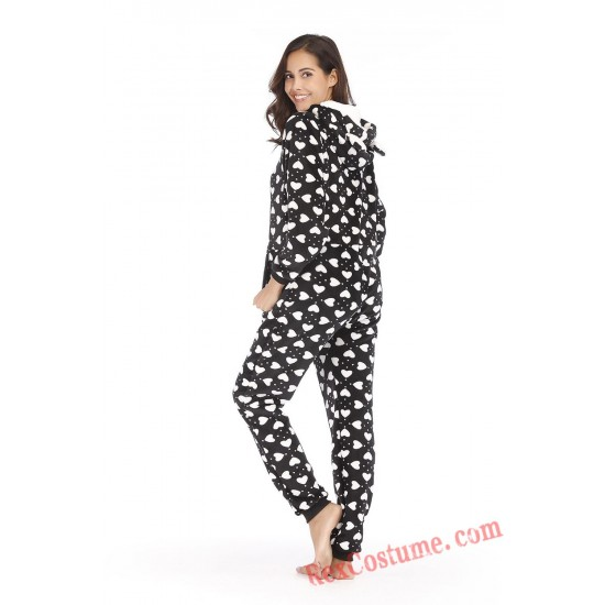 Love Heart Onesies Pajamas Hoodie Home Wear