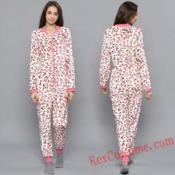 Leopard Onesies Pajamas Hoodie Home Wear
