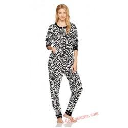 Zebra Onesies Pajamas Hoodie Home Wear