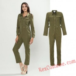 Women Soldier Onesies Pajamas Hoodie Home Wear