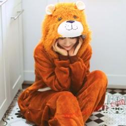 Lion Kigurumi Onesie Pajamas Cosplay Costumes