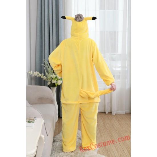 Pikaqiu Kigurumi Onesie Pajamas Cosplay Costumes