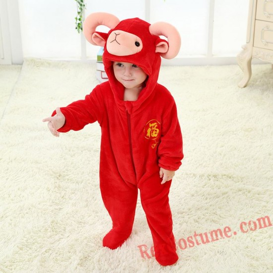 Ram Baby Infant Toddler Halloween Animal onesies Costumes
