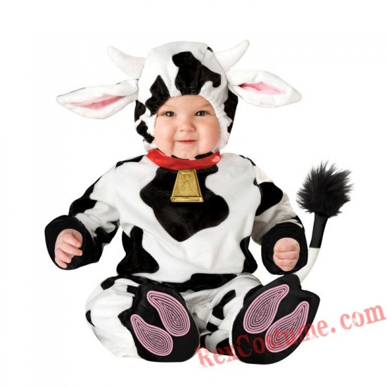Cow Baby Infant Toddler Halloween Animal onesies Costumes