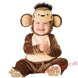 Monkey Baby Infant Toddler Halloween Animal onesies Costumes