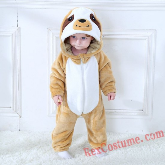 Sloth Baby Infant Toddler Halloween Animal onesies Costumes