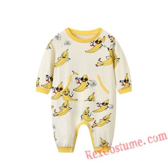 Banana Baby Infant Toddler Halloween Animal onesies Costumes
