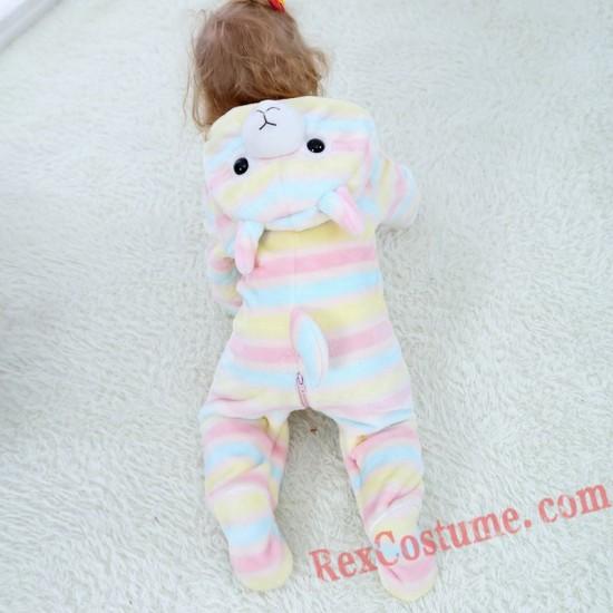 Alpaca Baby Infant Toddler Halloween Animal onesies Costumes