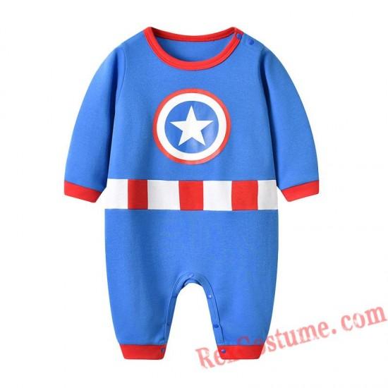 Captain America Baby Infant Toddler Halloween onesies Costumes