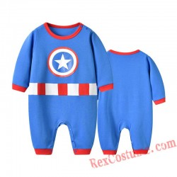Captain America Baby Infant Toddler Halloween onesies Costumes