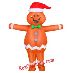Adult Inflatable Gingerbread Man Mascot Costume