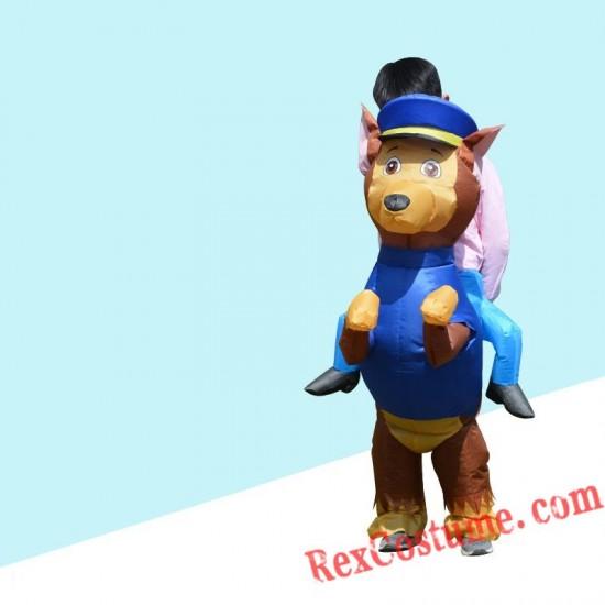 Kids Paw Patrol Dog Marshall Chase Skype Inflatable Costume