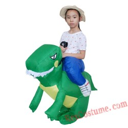 Children Inflatable Dinosaur Unicorn Rider On Costume