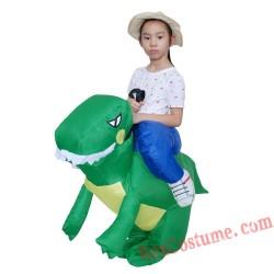 Children Inflatable Dinosaur Unicorn Rider On Costume