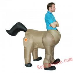 Adult Centaurus Inflatable Ride on Horse Costume