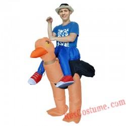 Bird Unisex Animal Inflatable Ostrich Costume