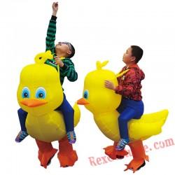 Inflatable Yellow Duck Costume Kids