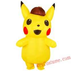 Adult Inflatable Detective Pikachu Costume