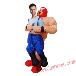Funny Wrestler Cosplay Inflatable Costume The Strong Man