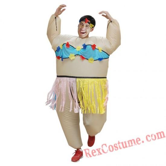 Funny Hawaiian Dance Inflatable Costume