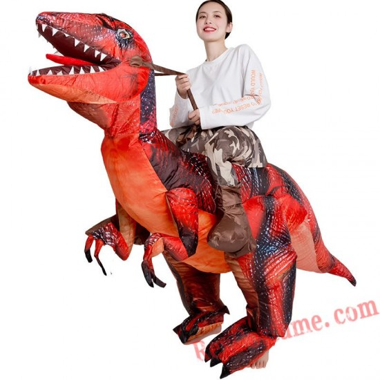 Red Dinosaur Dragon T Rex Inflatable Costume