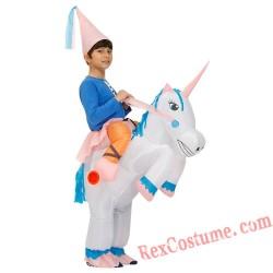 Unicorn Christmas Cosplay Girl Inflatable Costumes Kids