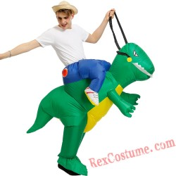 Adult Green Dinosaur Costume Inflatable T REX Costume