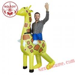 Adult Inflatable Giraffe Costume