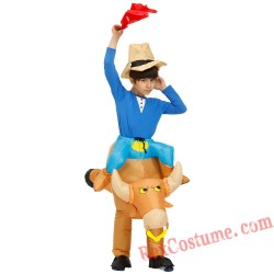 Anime Cosplay Child Inflatable Bull Costume