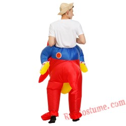 Adult Red Inflatable Dinosaur Costume