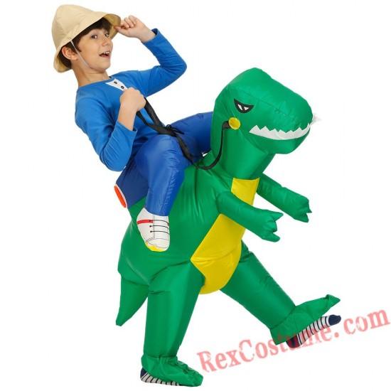 Boys Kids Inflatable Dinosaur Costume