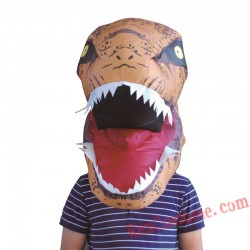 Dinosaur T REX  Blow up INFLATABLE Head Costume