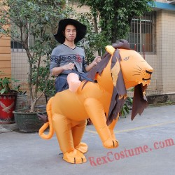 Adult Ride On Lion Inflatable Costume