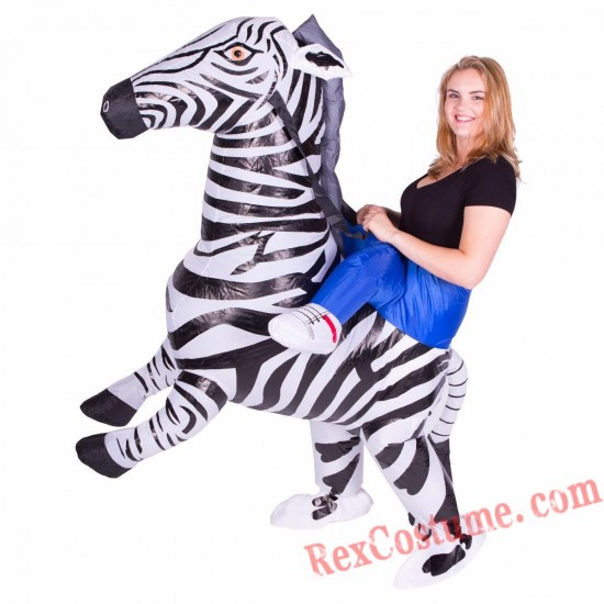 Adult Inflatable blow up Zebra Costume