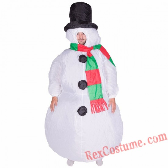 Adult Inflatable blow up Snowman Costume