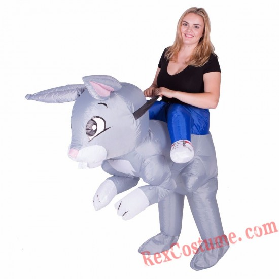Adult Inflatable blow up Rabbit Costume