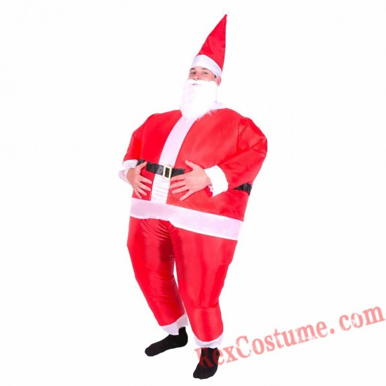 Adult Inflatable blow up Santa Costume
