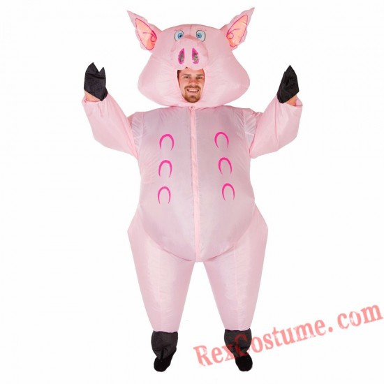 Adult Inflatable blow up Pig Costume