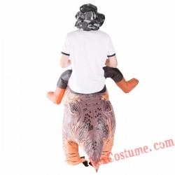 Adult Inflatable blow up Deluxe Dinosaur Costume