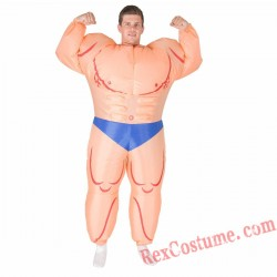 Adult Inflatable blow up Muscleman Costume