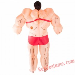Adult Inflatable blow up Musclewoman Costume