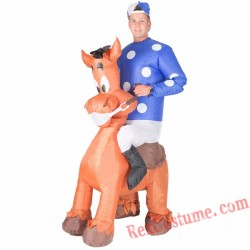 Adult Inflatable blow up Jockey Costume