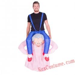 Adult Inflatable blow up Grandma Costume