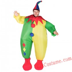 Adult Inflatable blow up Clown Costume