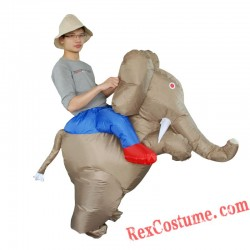 Adult Elephant Ride On Inflatable Blow Up Costume