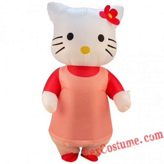 Adult Hello Cat Kitty Inflatable Blow Up Costume